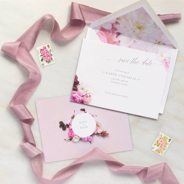 Pink Secret Garden Save the Date