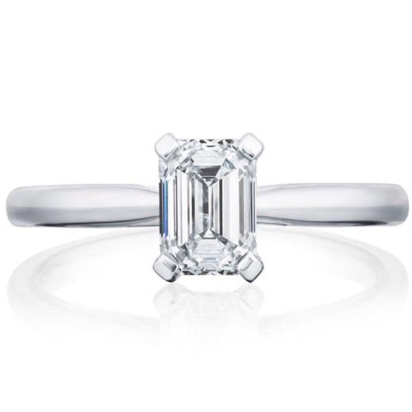 Platinum Emerald Cut 1.81ct Engagement Ring