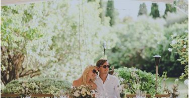 Relaxed Romantic Wedding Couple