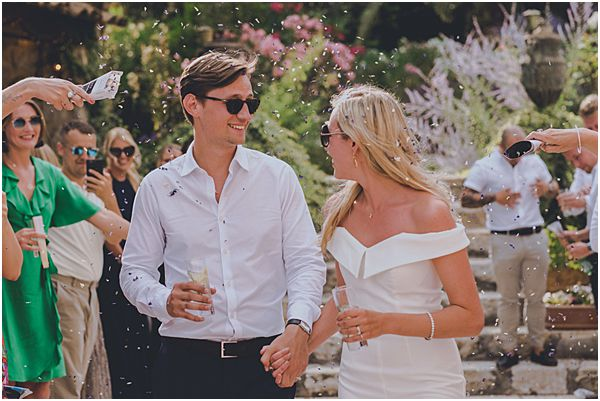 Relaxed Wedding Couple with Sunglasses