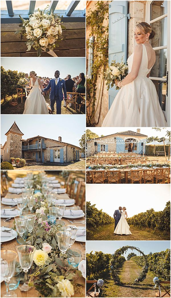Romantic and Relaxing Vineyard Wedding in France Snapshot