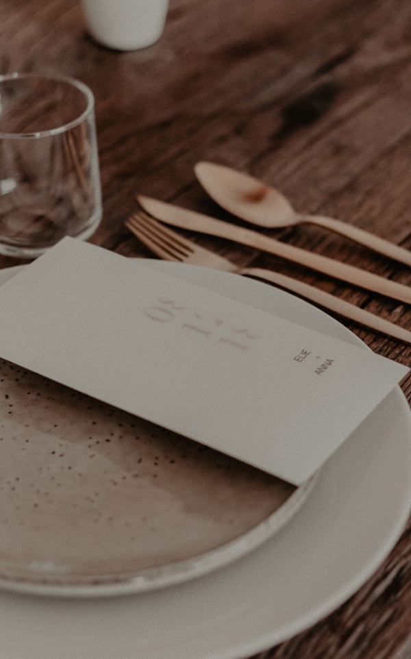Rose Gold Place Setting