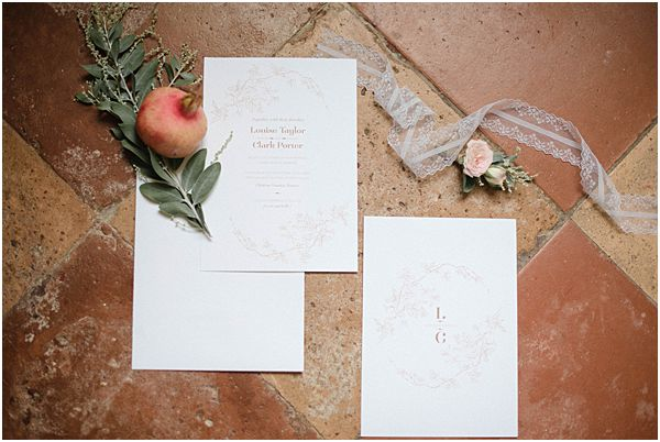 Rustic Romantic Stationery Details