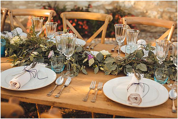 Rustic and Foliage Table Decor Setting