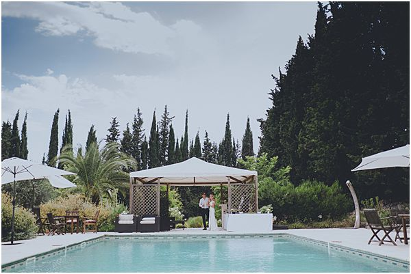 Swimming Pool France Wedding