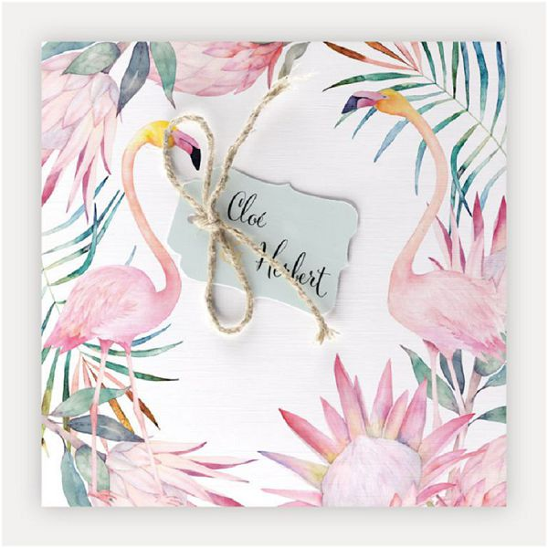 The biggest 2019 2020 wedding trends flamingo stationery