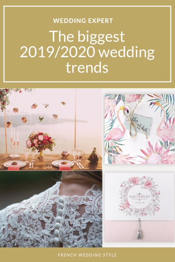 The biggest 2019 and 2020 wedding trends