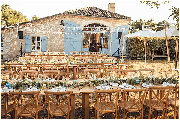Vineyard Wedding Venue France Fairy Lights