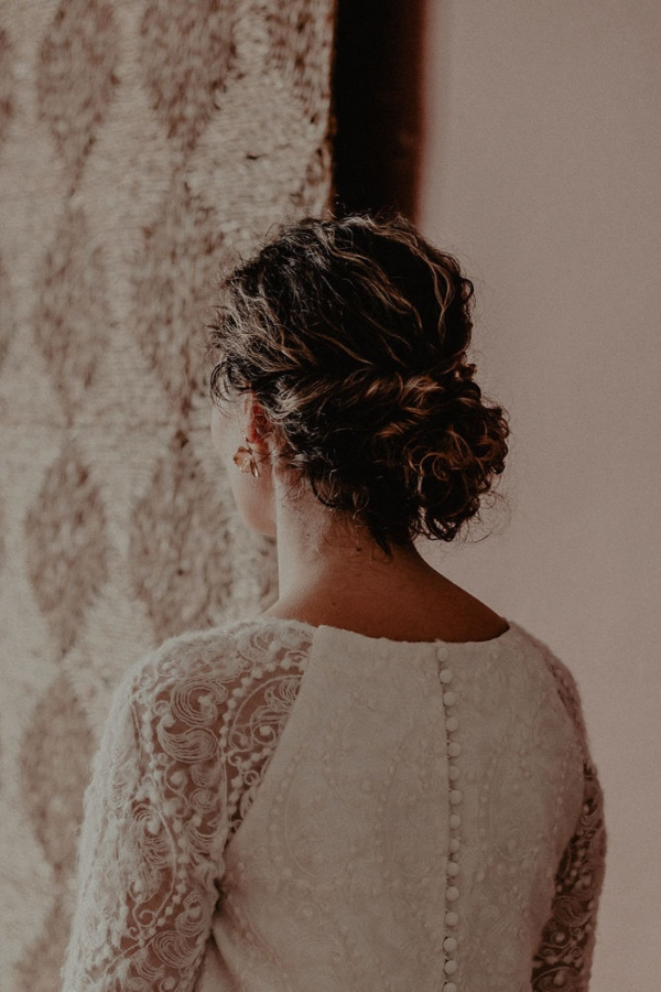 Wedding Dress with Button Details