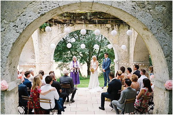 White Lantern Wedding Ceremony