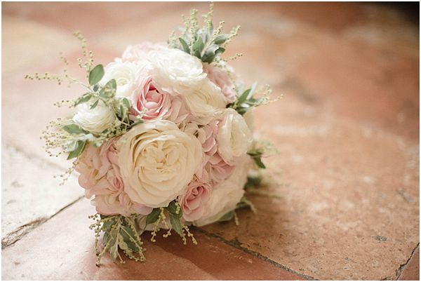 White and Pink Garden Rose Bouquet