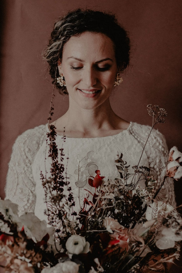 Winter Bride with Bouquet