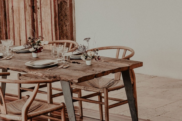 Wooden Rustic Wedding Table