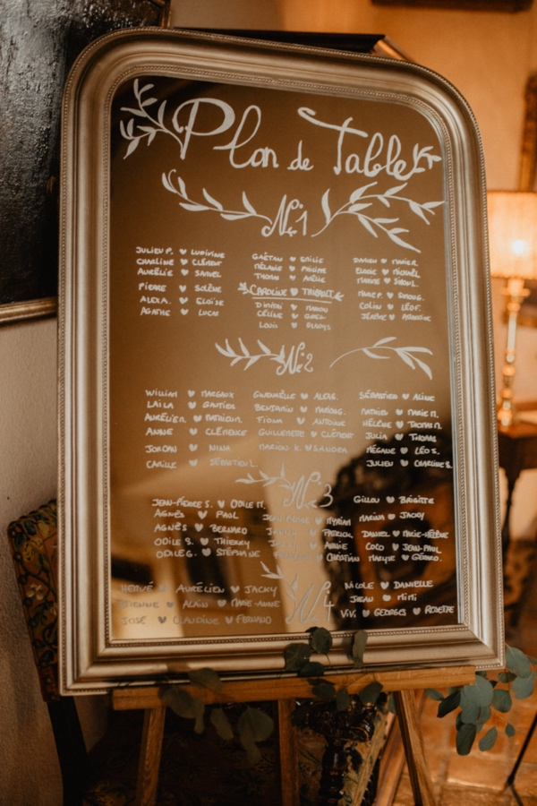 mirror french tableplan