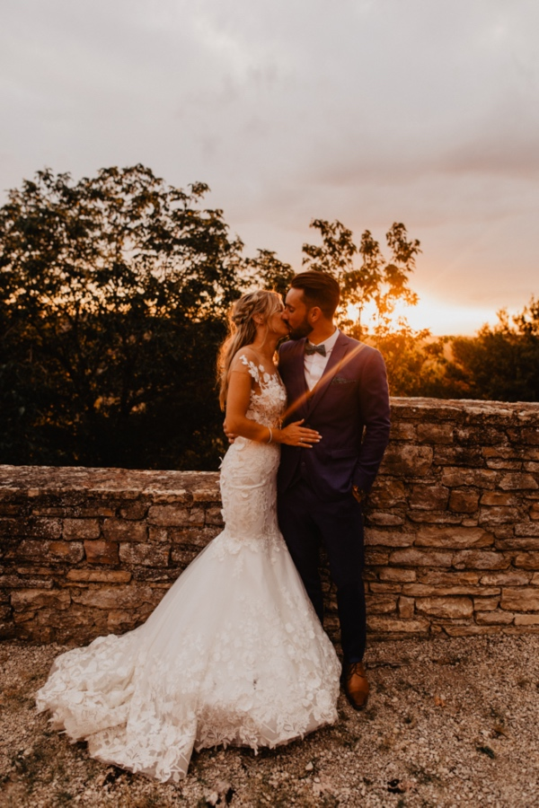 sunset france wedding