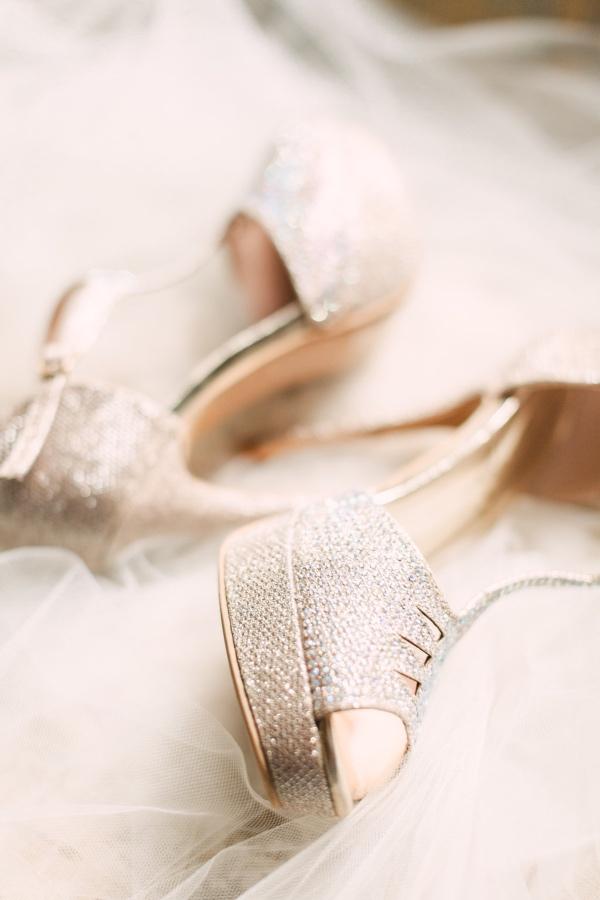 Bridal Heels on Veil