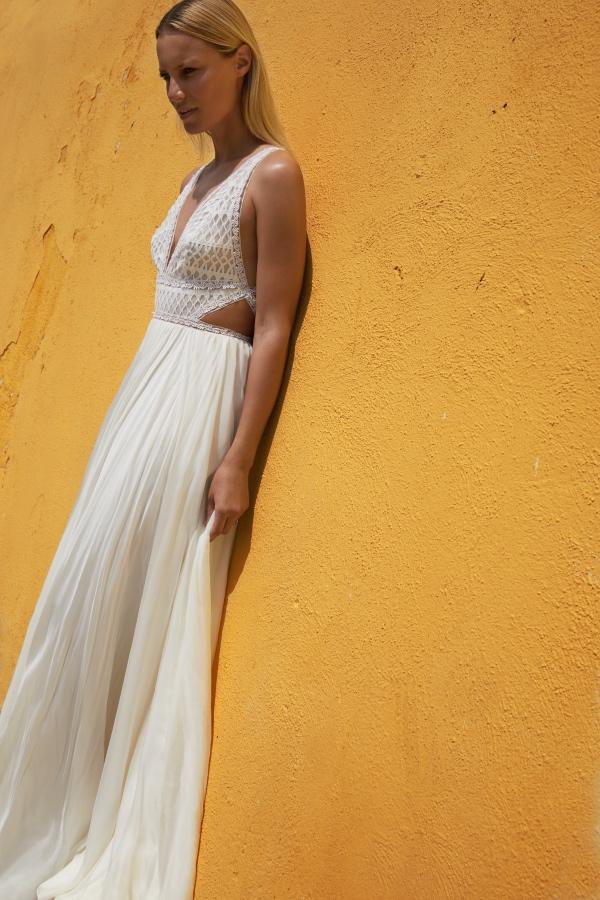 Column Bridal Gown