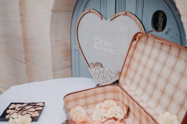 DIY Guest book hearts