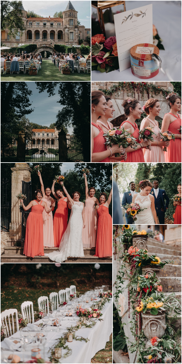 Family wedding in France at Chateau Sainte Cécile Snapshot