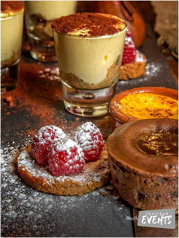 French Wedding and Event Caterer Buffet Desserts