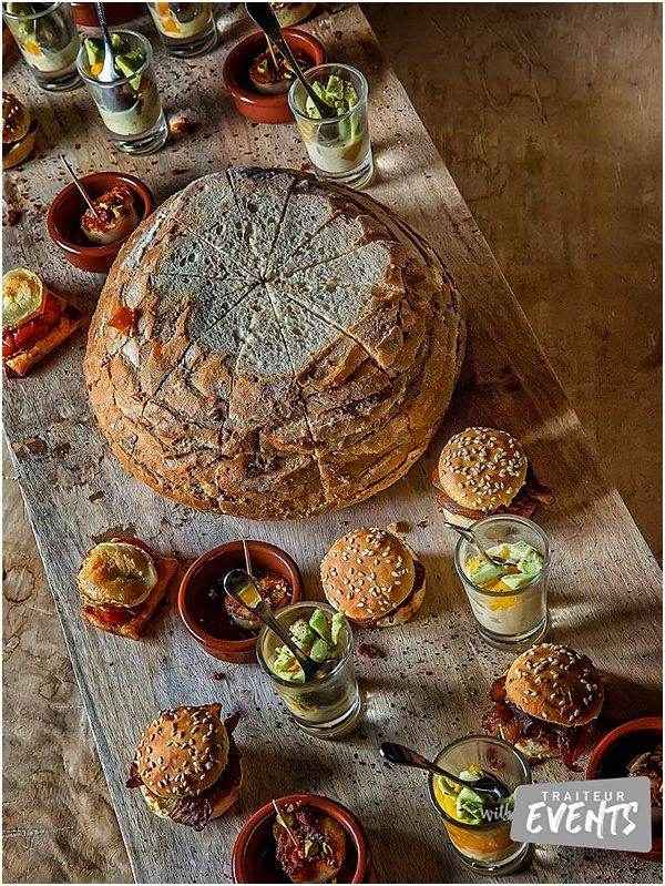 French Wedding and Event Caterer Cheese and Bread