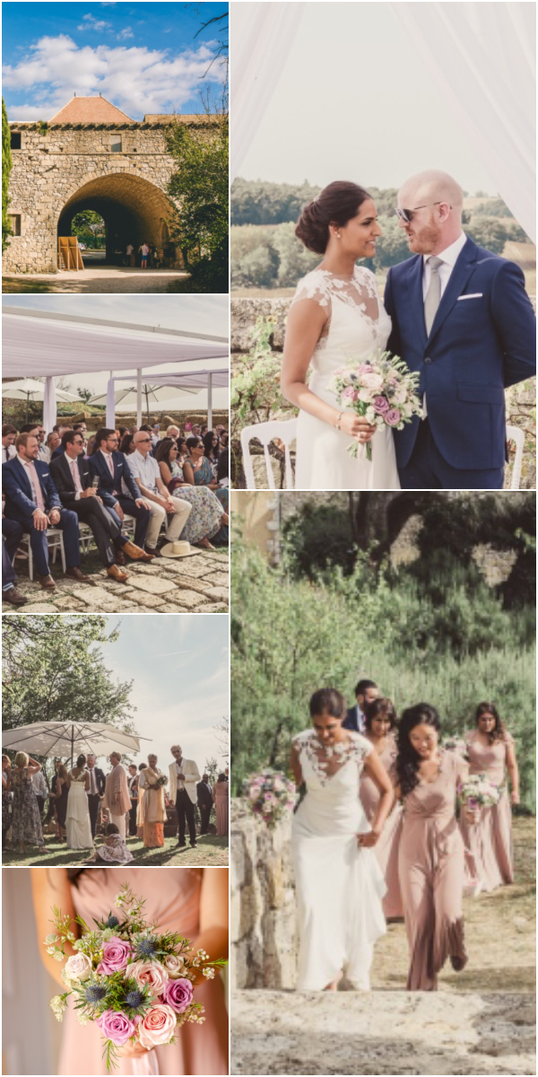 Gascony Destination Wedding at Castelnau des Fieumarcon Snapshot