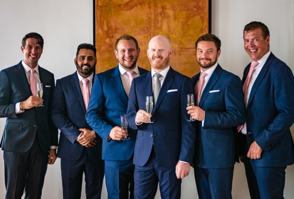 Groomsmen Blue Suits