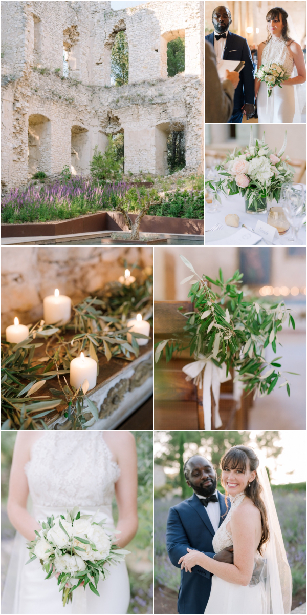 Intimate wedding at Chateau Grimaldi, Provence Snapshot