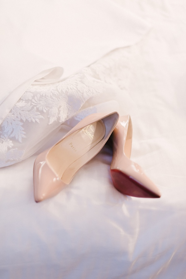 Nude wedding bridal shoes