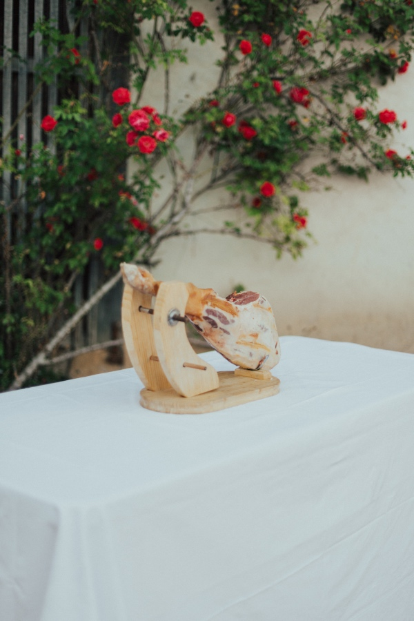 Parma ham wedding food
