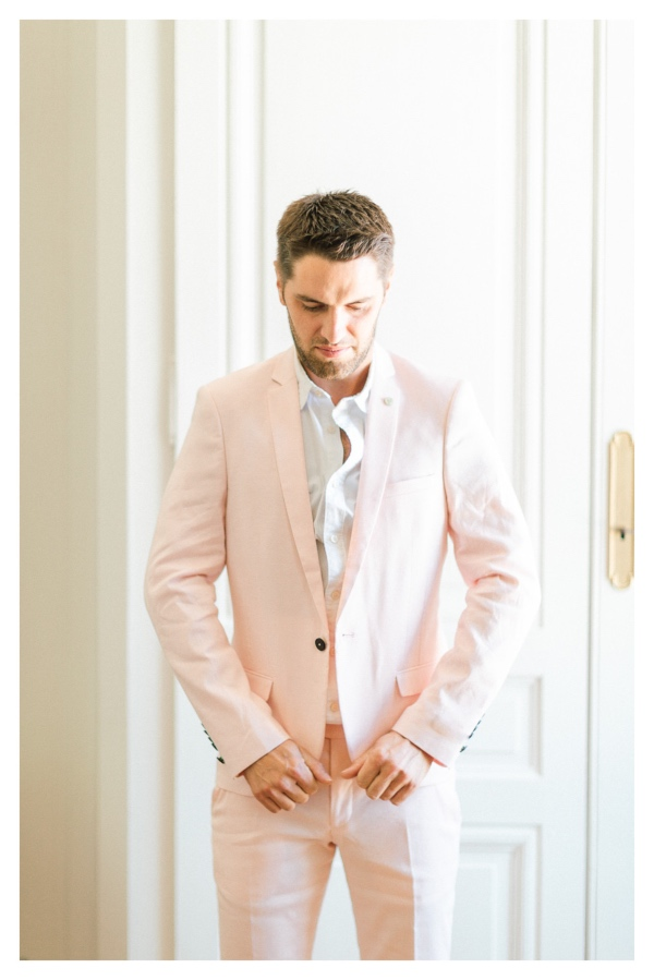 Twisted Tailor Salmon Pink Groom Suit