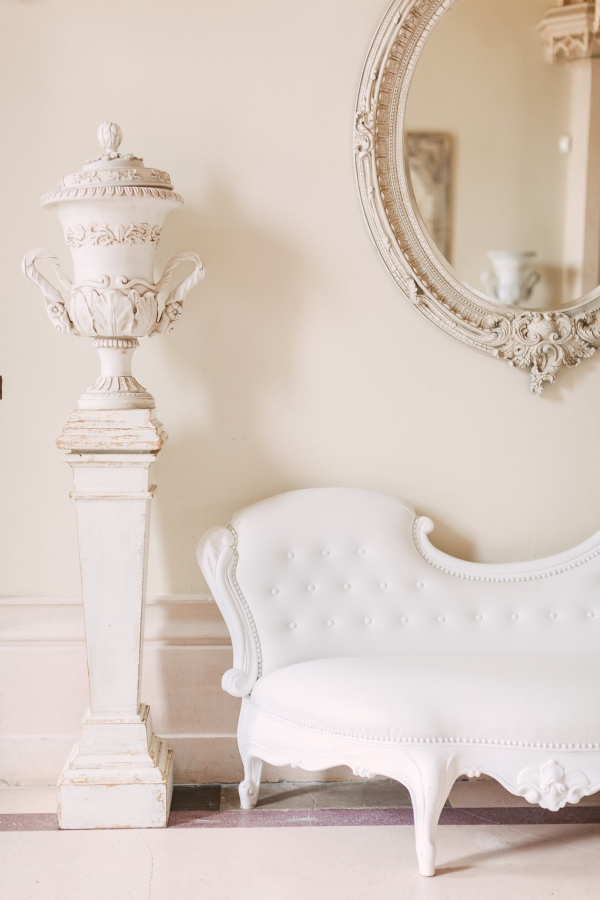 White Elegant Chic French Chair