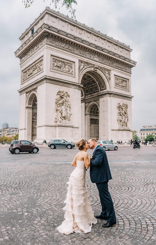 arc de triomphe paris wedding