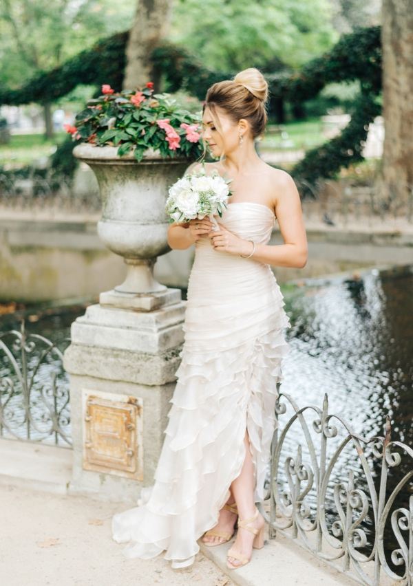 bridal detailed dress