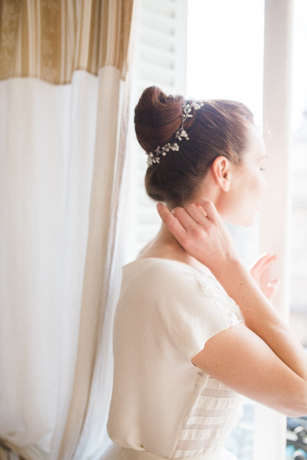 bridal hair updo piece