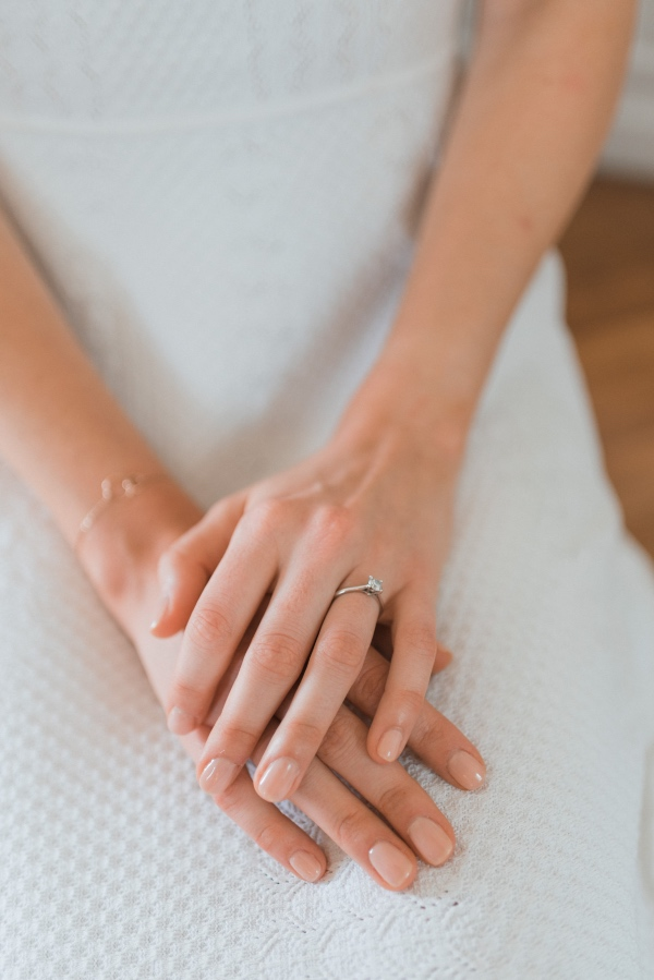bridal hands with ring