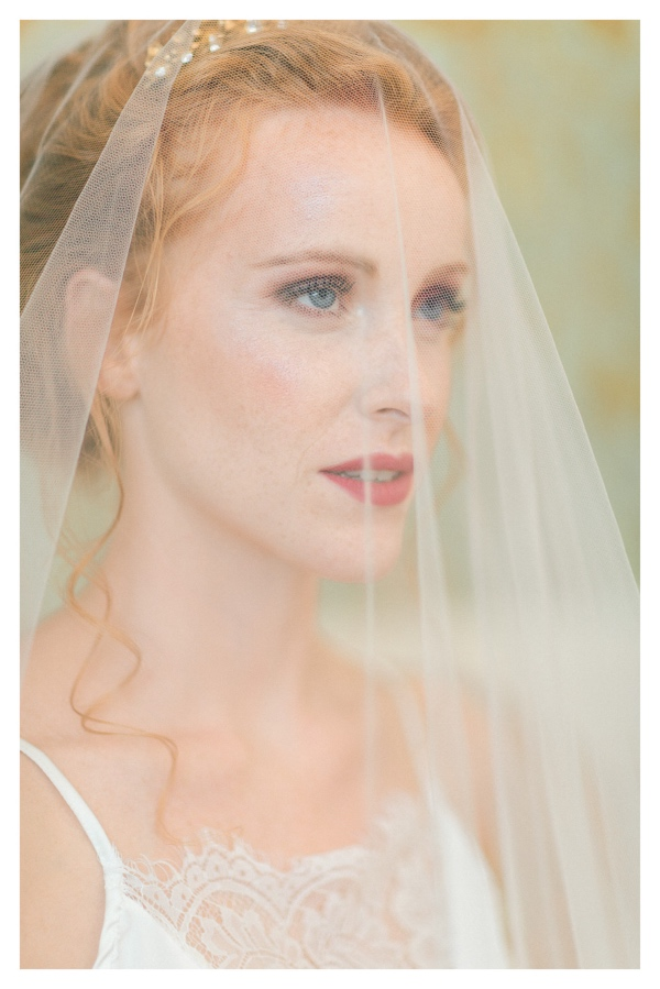 bridal makeup with veil