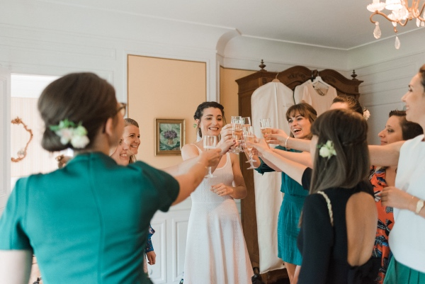 bridal party celebration