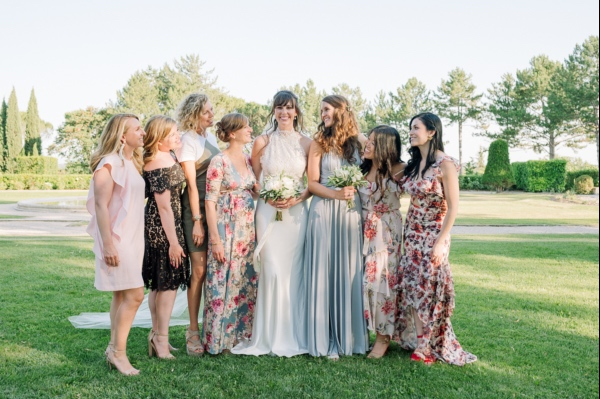 bridal party france wedding