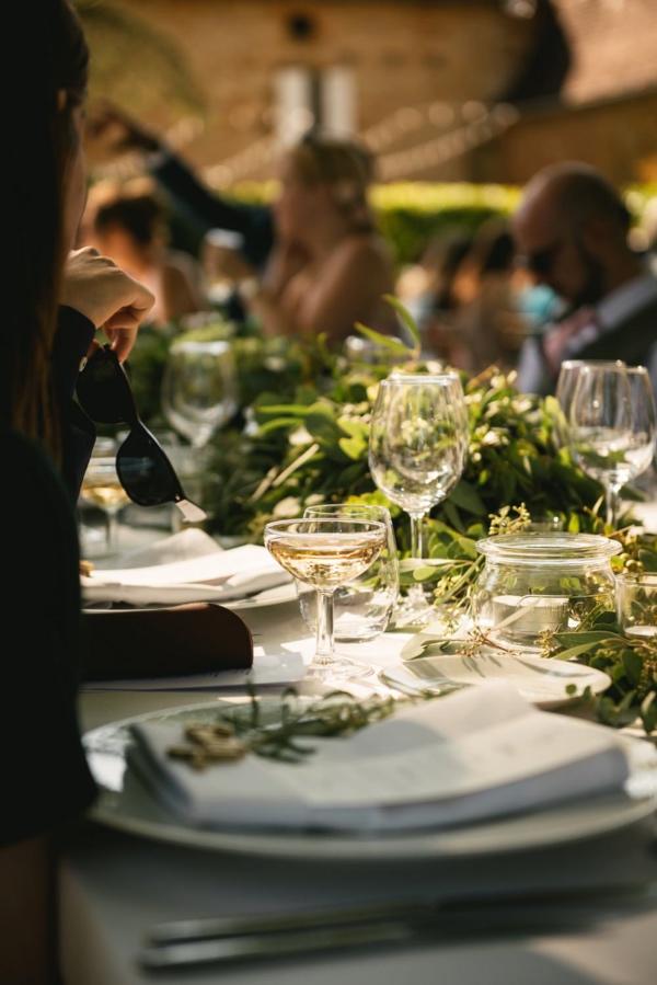 chic wedding setup france