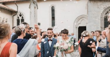 confetti moment summer wedding
