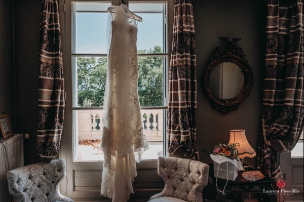 elegant bridal gown photo