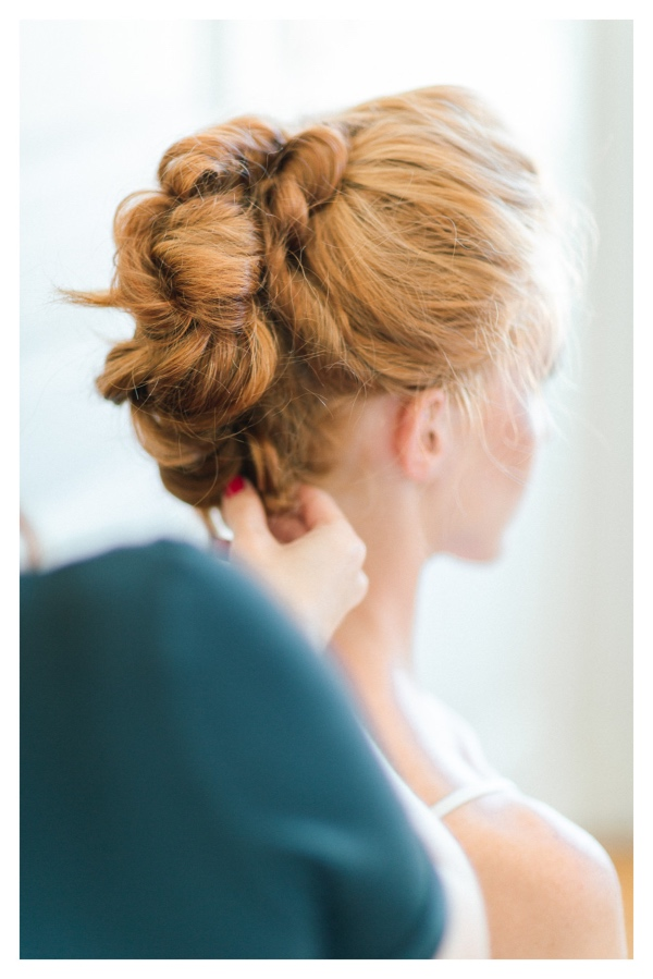 elegant french bridal updo