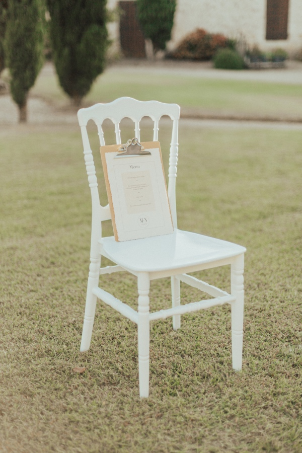 elegant white wedding chair