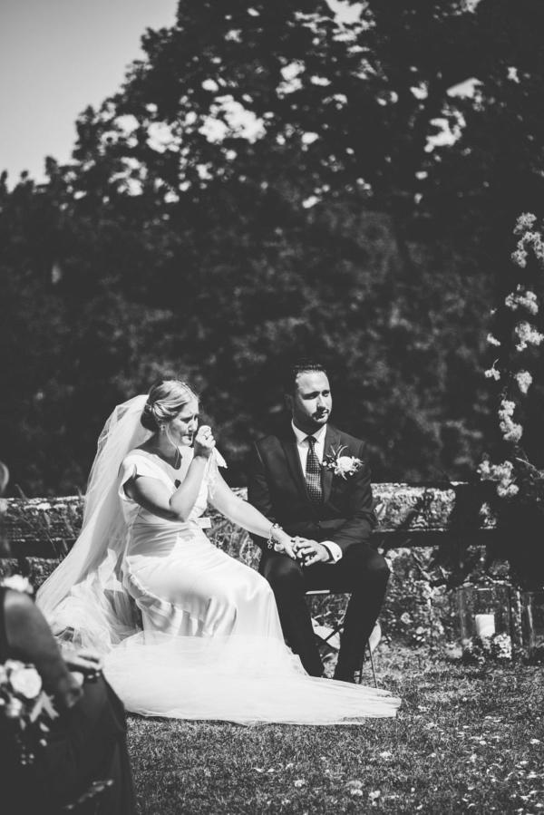 emotional bridal shot