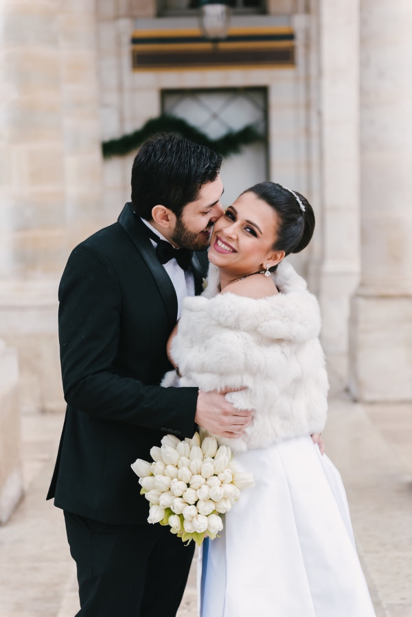 fairytale winter wedding france