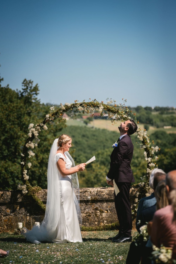 floral ring installation