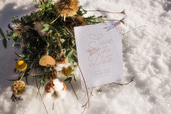 floral stationery snow