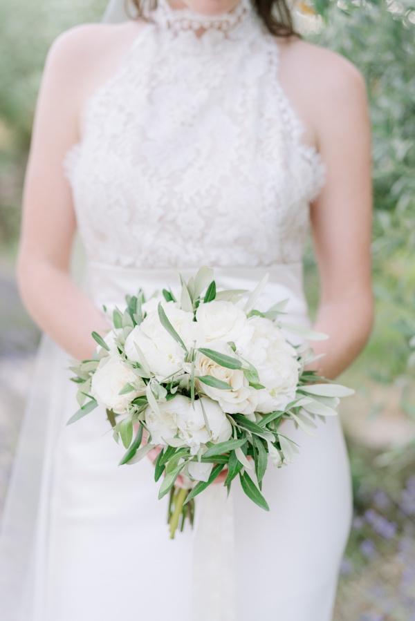 florals bridal look