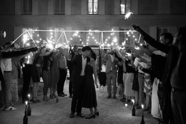 france night time wedding